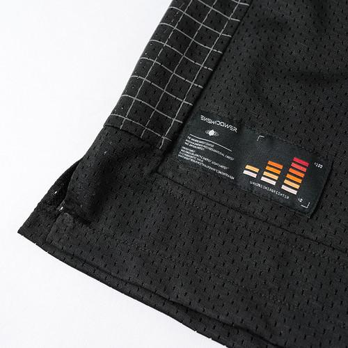 ENSHADOWER隐蔽者国潮拼接格子网洞短裤男新款宽松直筒休闲五分裤