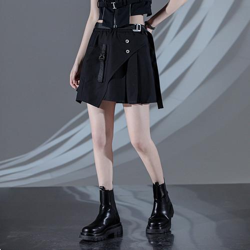 ENSHADOWER隐蔽者2021新款不对称机能风半身裙女高腰黑色工装短裙