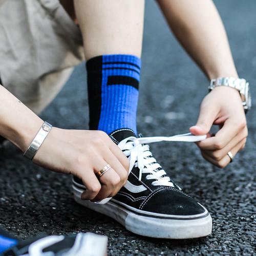 ENSHADOWER隐蔽者双色运动精英袜中高帮长袜吸汗透气原创袜子男女