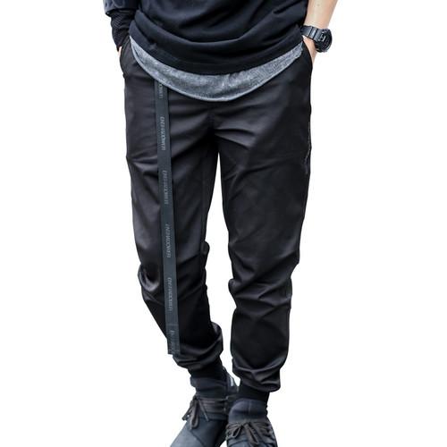 ENSHADOWER隐蔽者小脚束脚裤男潮流收口运动长裤夏季黑色休闲裤男