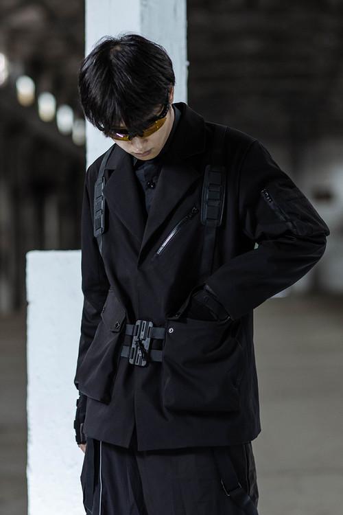 ENSHADOWER隐蔽者机能快拆西装外套男国潮工装战术服宽松西服夹克
