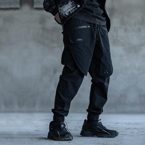 ENSHADOWER隐蔽者新款活页气眼束脚裤男休闲工装长裤潮流宽松裤子