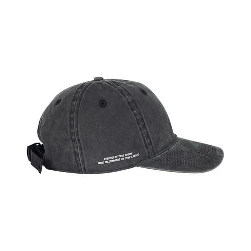 ENSHADOWER隐蔽者洗水印花弯檐帽复古国潮鸭舌帽防晒遮阳帽