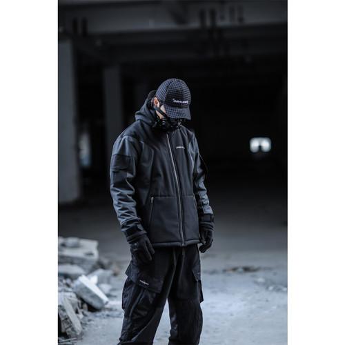 ENSHADOWER隐蔽者冬季简款加绒软壳冲锋衣外套男潮流拼接连帽夹克
