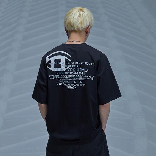 ENSHADOWER隐蔽者潮牌空间站印花短袖T恤夏季半袖男士宽松打底衫