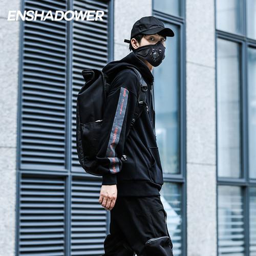 ENSHADOWER隐蔽者反光条拼色卫衣男潮牌休闲宽松运动开衫外套