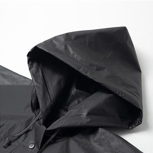 ENSHADOWER隐蔽者黑色潮牌字母印花雨衣外套EVA户外运动长款雨披