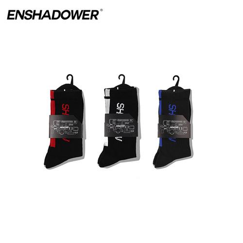 ENSHADOWER隐蔽者男士高筒运动袜防臭吸汗男袜四季通用中筒长袜子