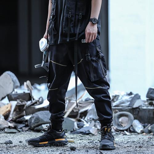 ENSHADOWER隐蔽者xCAT联名款线迹功能口袋长裤宽松潮流休闲裤男