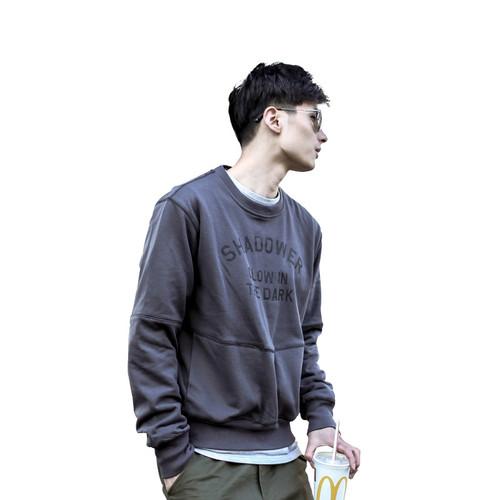 ENSHADOWER隐蔽者2017AW插袋SHADOWER印花毛圈卫衣男长袖套头衫潮