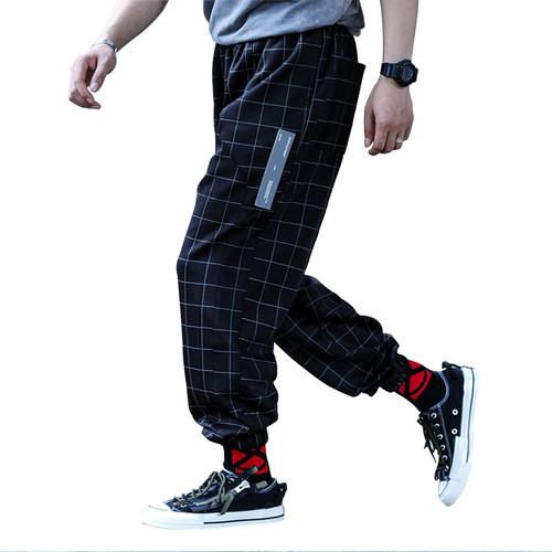 ENSHADOWER隐蔽者复古潮流格子裤宽松休闲裤直筒束脚裤格纹长裤男