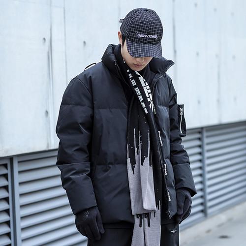 ENSHADOWER隐蔽者冬季泼墨围巾百搭保暖长款围脖