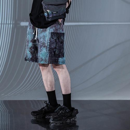 ENSHADOWER隐蔽者夏季满印锈迹短裤男休闲宽松五分裤新款直筒中裤