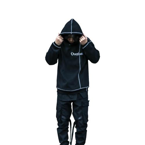 ENSHADOWER隐蔽者2017AW刺绣反包边设计厚款连帽卫衣