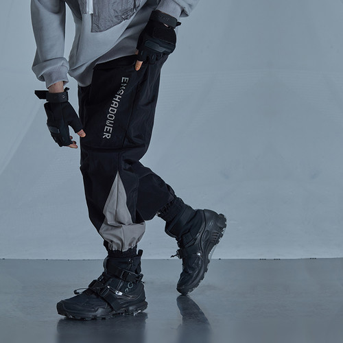 ENSHADOWER隐蔽者潮流拼色束脚裤宽松黑色运动长裤男春季休闲裤子