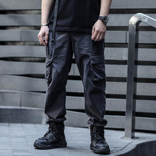 ENSHADOWER隐蔽者新品双口袋束脚裤潮牌国潮休闲裤机能风工装裤男