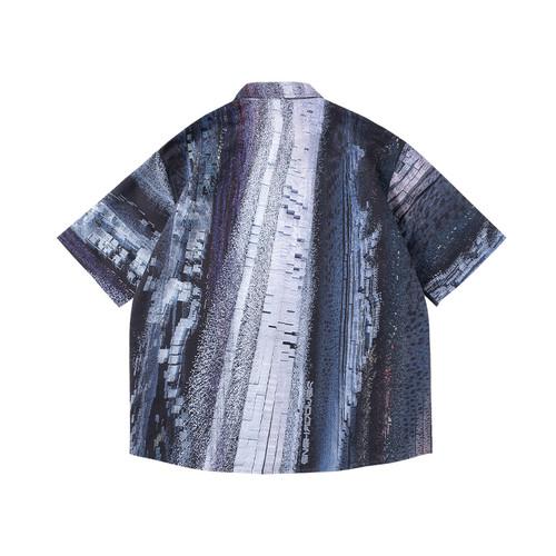 ENSHADOWER隐蔽者凝聚态粒子满印情侣宽松短袖衬衫潮牌宽松衬衣夏