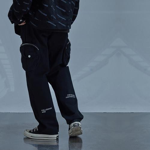 ENSHADOWER隐蔽者工装裤男潮牌立体多口袋休闲裤直筒宽松机能长裤