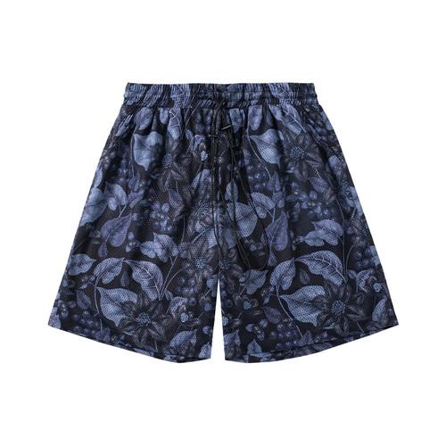 ENSHADOWER隐蔽者迷幻植物满印短裤男士潮牌宽松抽绳五分网洞中裤