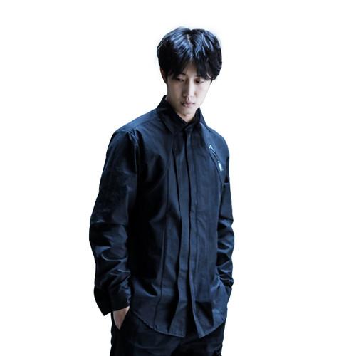 ENSHADOWER隐蔽者骨条结构衬衫潮牌印花长袖休闲衬衣潮流宽松外套