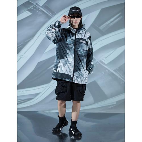 ENSHADOWER隐蔽者满印波动纹理皮肤衣外套夏季轻薄防晒风衣外套潮