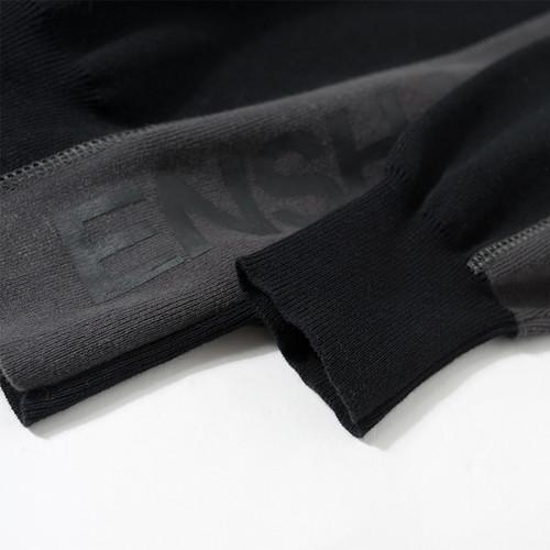 ENSHADOWER隐蔽者裁片拼接纯棉毛衣潮牌男冬季高领宽松套头毛线衣