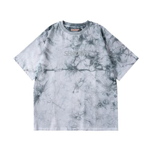ENSHADOWER隐蔽者夏季反光logo斑驳扎染短袖T恤国潮男女半袖体恤