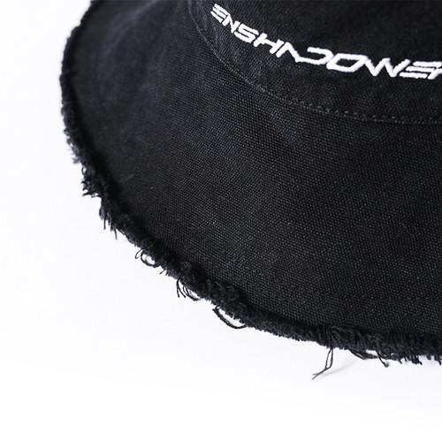 ENSHADOWER隐蔽者logo刺绣渔夫帽男女休闲百搭遮阳帽潮牌黑色盆帽