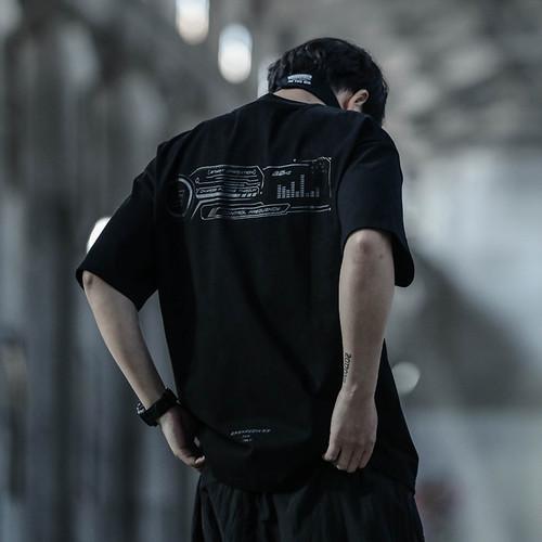 ENSHADOWER隐蔽者字母印花短袖男2020潮流宽松半袖T恤圆领打底衫