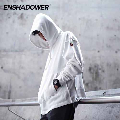 ENSHADOWER隐蔽者潮流宽松长袖套头帽衫 潮牌雷达印花卫衣男