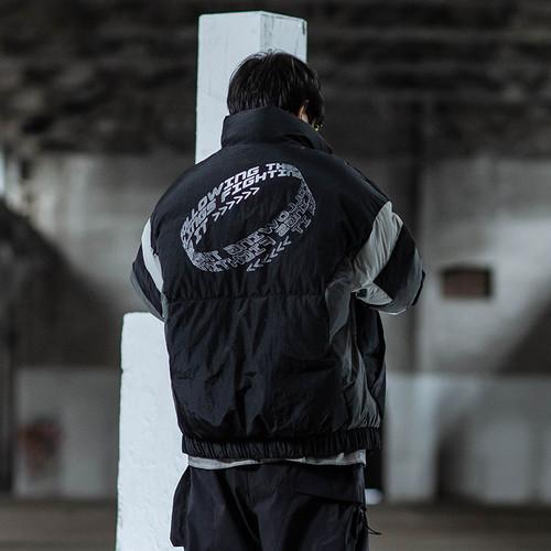 ENSHADOWER隐蔽者冬季加厚拼色羽绒服男新款潮牌立领宽松保暖外套