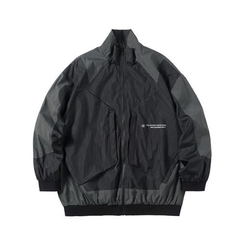 ENSHADOWER隐蔽者春季潮牌异形口袋拼色运动夹克宽松外套工装上衣
