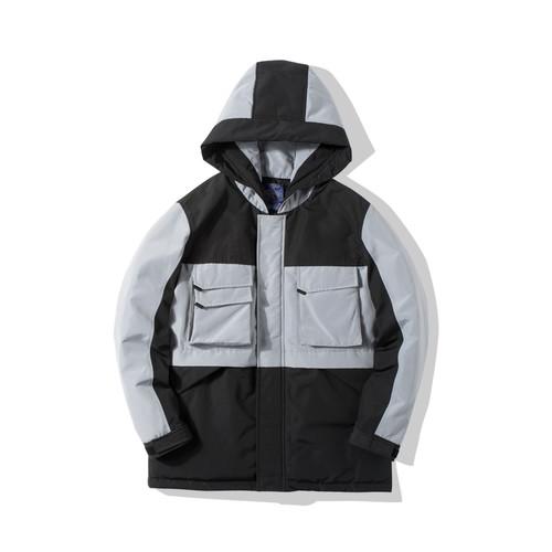 ENSHADOWER隐蔽者冬季中长款滑雪羽绒服潮牌拼色加厚羽绒衣外套男