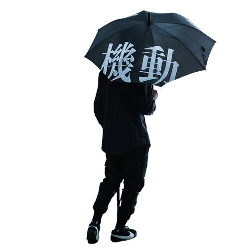 ENSHADOWER隐蔽者长柄雨伞8骨长伞机动印花遮阳伞