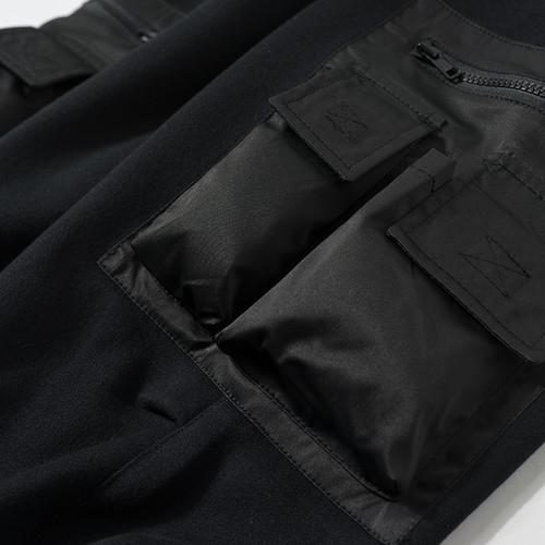 ENSHADOWER隐蔽者口袋拼接加绒卫裤男国潮运动长裤束脚裤
