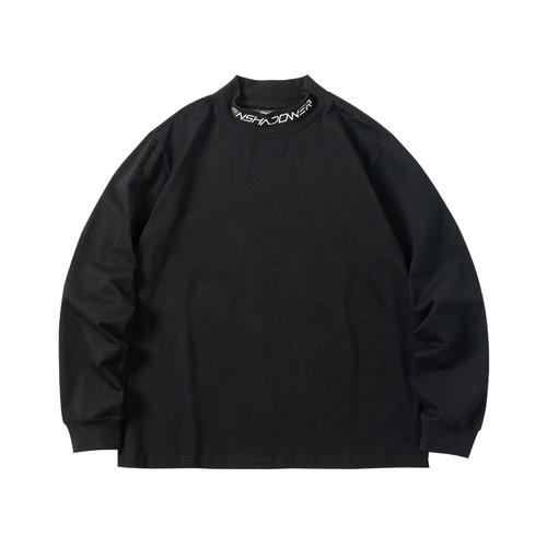 ENSHADOWER隐蔽者春季长袖潮牌基础logo印花T恤男圆领黑色打底衫