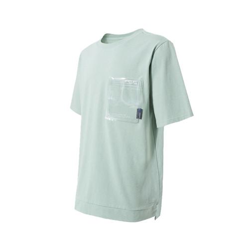 ENSHADOWER隐蔽者夏季国潮透明PVC口袋纯棉T恤圆领宽松机能短袖男