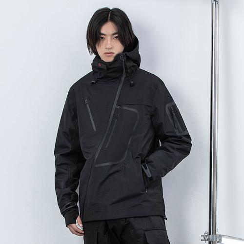 ENSHADOWER隐蔽者二代国潮斜拉链冲锋衣男机能宽松防风外套夹克秋