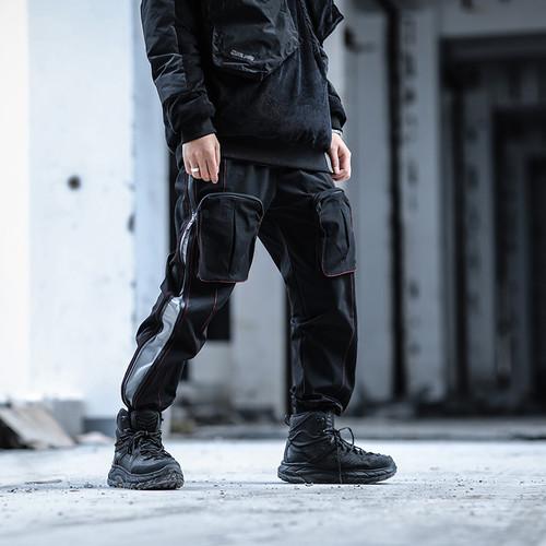 ENSHADOWER隐蔽者可拓展拉链束脚裤男多口袋工装裤宽松休闲长裤潮