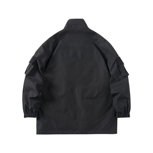 ENSHADOWER隐蔽者潮牌工装不规则口袋教练夹克男机能宽松外套上衣