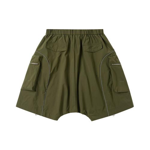 ENSHADOWER隐蔽者机能风短裤男反光拉链可拓展短裤工装五分裤垮裤