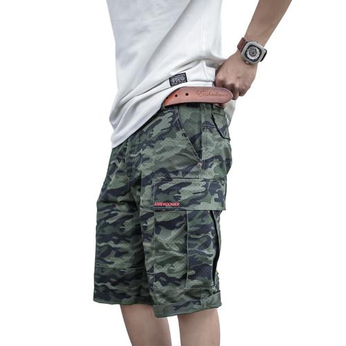ENSHADOWER隐蔽者迷彩波点中裤休闲五分裤工装短裤男宽松沙滩裤男