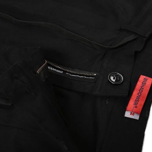 ENSHADOWER隐蔽者春季宽松九分裤男刺绣纯棉阔腿裤黑色潮男休闲裤