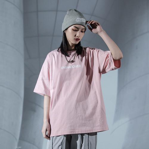 ENSHADOWER隐蔽者短袖T恤男简约印花纯色打底衫新疆棉情侣上衣潮