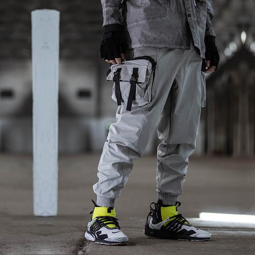 ENSHADOWER隐蔽者潮牌可拆卸腿包工装束脚裤男宽松休闲裤收口长裤