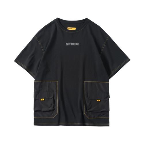 ENSHADOWER隐蔽者xCAT联名异质拼接口袋印花T恤潮牌宽松短袖男