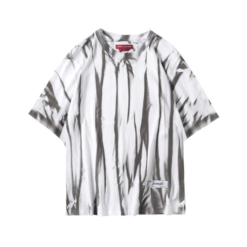 ENSHADOWER隐蔽者国潮新品扎染做旧短袖T恤男宽松半袖体恤上衣潮