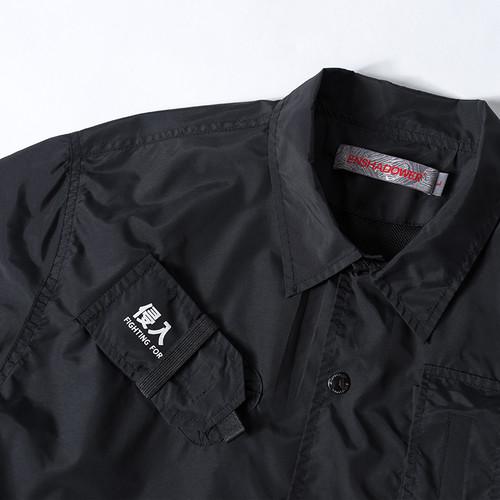 ENSHADOWER隐蔽者潮牌多口袋教练夹克男秋装工装印花宽松外套上衣