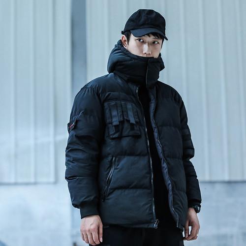 ENSHADOWER隐蔽者双面穿可拆卸连帽棉衣外套冬季潮流机能保暖棉服