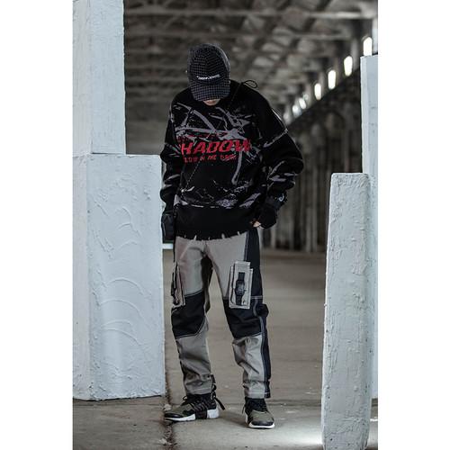 ENSHADOWER隐蔽者潮牌分割拼接工装裤男宽松休闲长裤多袋机能裤子